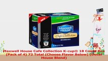 Maxwell House Cafe Collection Kcup 18 Count Box Pack of 4 72 Total Choose Flavor 136744d9