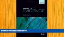 EBOOK ONLINE Murphy on Evidence Peter Murphy Pre Order