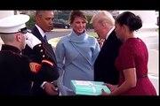 La réaction gênée de Michelle Obama au cadeau de Melania Trump