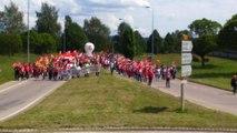 Vosges : nouveau blocage à Epinal contre la loi travail...