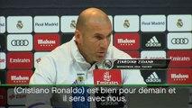 """Coupe du Roi - Zidane : """"Ronaldo va bien"""""""