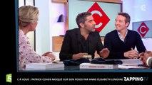 C à vous: Patrick Cohen moqué sur son poids par Anne-Élisabeth Lemoine (Vidéo)