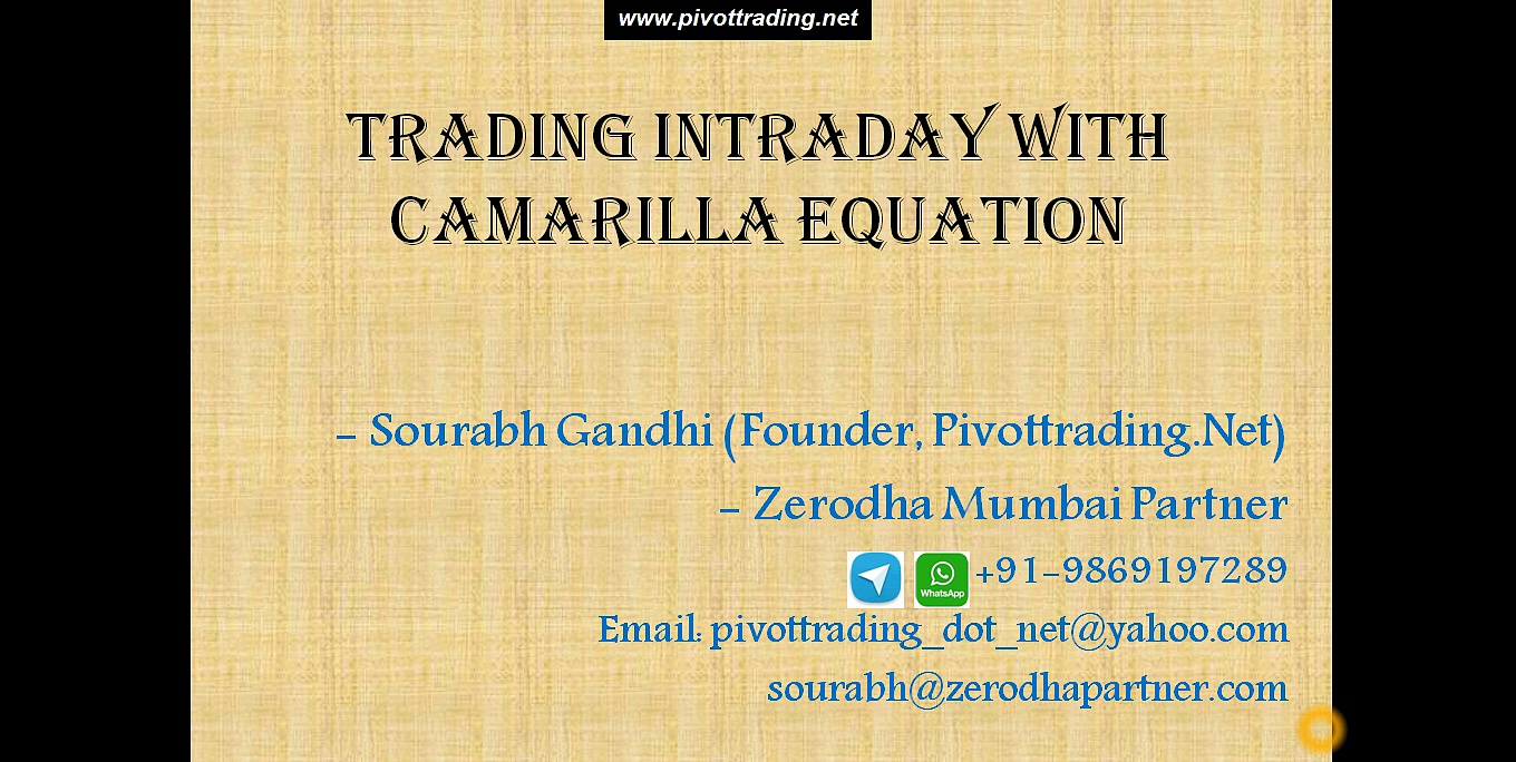 Intraday Trading Using Camarilla Equation