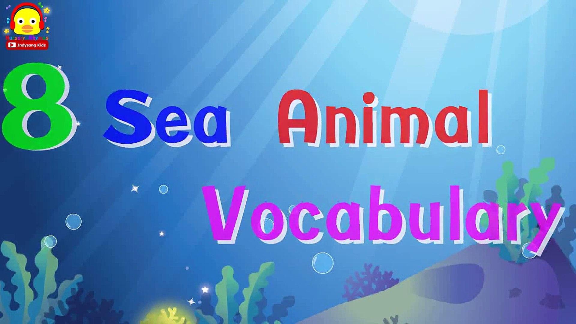 Морские животные | дошкольного | выучить английские слова, стишки | Детские песни дети Инди