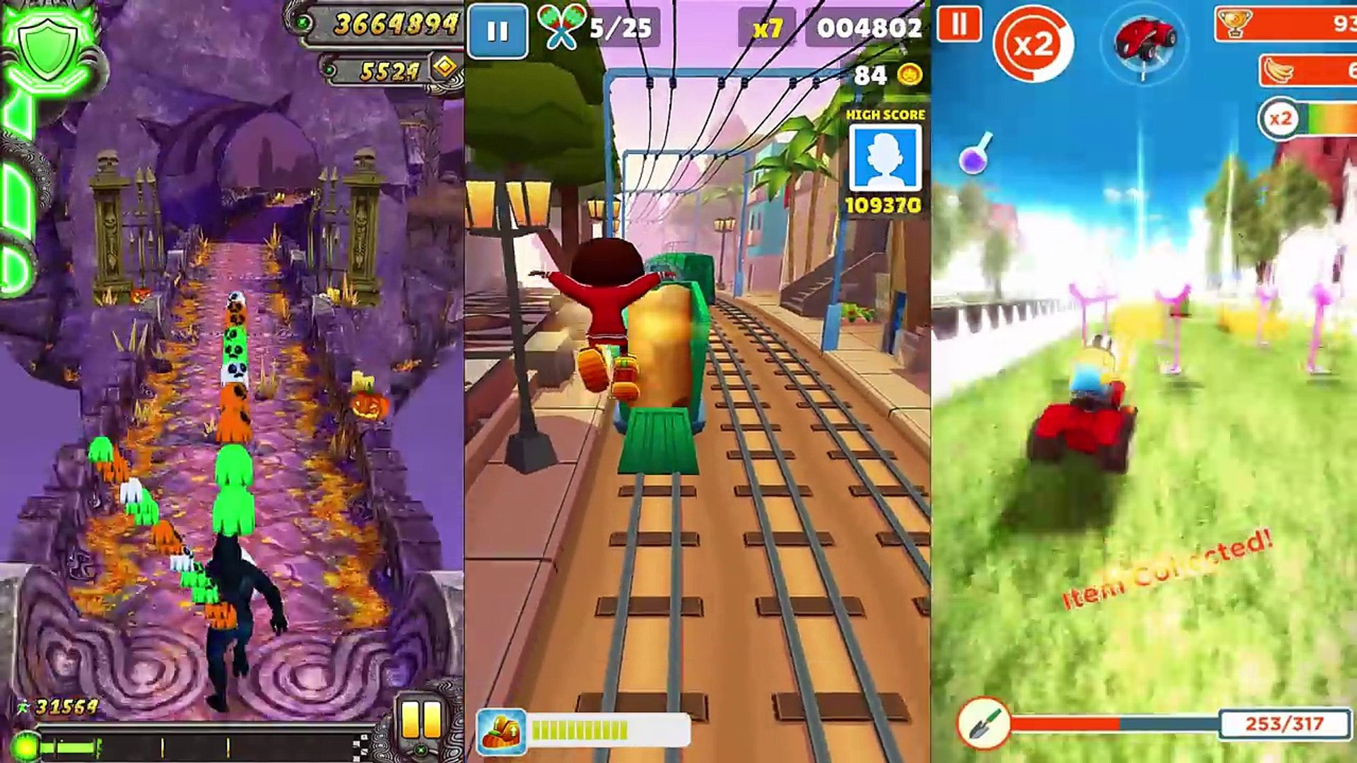 Despicable Me Minion Rush Vs Temple Run 2 Vs Subway Surfers Video Dailymotion