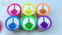 Teletubbies PLAY DOH Cups Rainbow Learn Colors Surprise Toys Peppa Pig Inside Ou