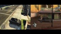 GTA V vs GTA San Andreas , comparação ( Marlon X Gamer)