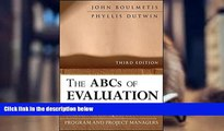 Audiobook  The ABCs of Evaluation: Timeless Techniques for Program and Project Managers Pre Order