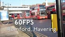 (60fps) London Buses outside Romford Station January 2017