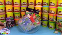 TMNT Giant Play Doh Surprise Raphael Raph with Nickelodeon Turtles Minions Toys