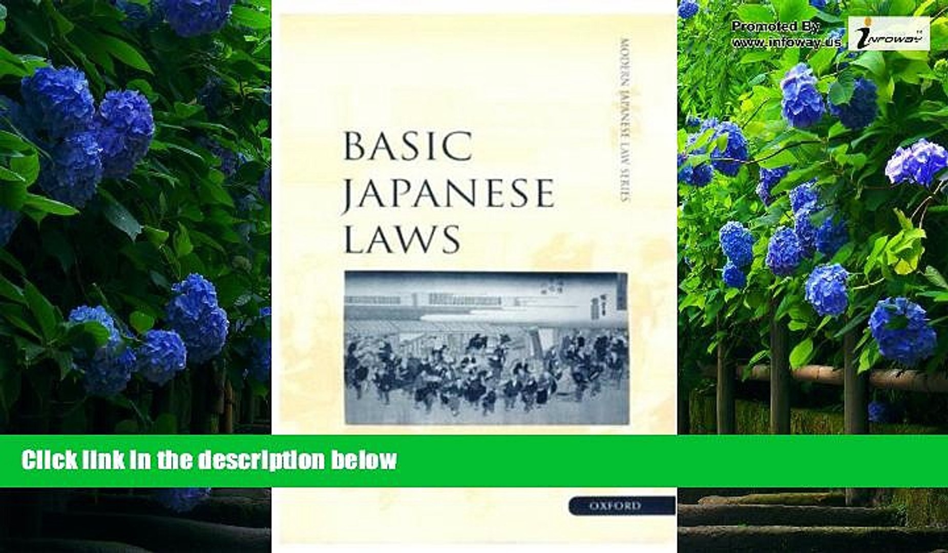 Books to Read  Basic Japanese Laws (Modern Japanese Law Series)  Full Ebooks Most Wanted
