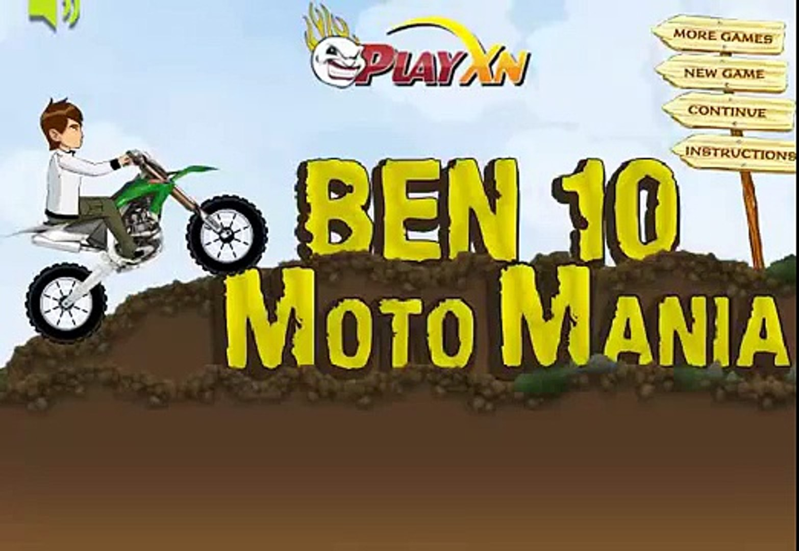 Ben 10 Moto Mania - Ben 10 Racing Game