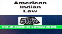Read Now American Indian Law in a Nutshell (Nutshell Series) (In a Nutshell (West Publishing))