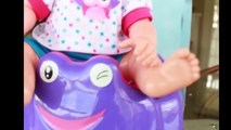 BABY LEARN POTTY TRAINING + POOP CANDY Hate Potty Training FUNNY POTTY! Milk Duds POOP