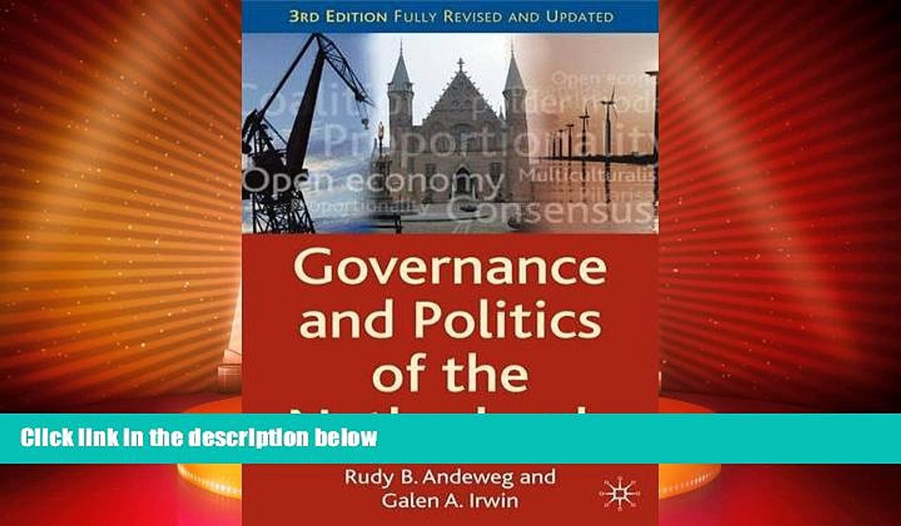 Big Deals  Governance and Politics of the Netherlands (Comparative Government and Politics)  Full