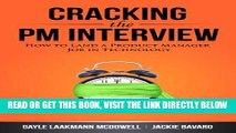 [FREE] EBOOK Cracking the PM Interview: How to Land a Product Manager Job in Technology BEST
