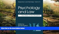 Must Have  Psychology and Law: The State of the Discipline (Perspectives in Law   Psychology)