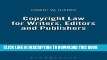 Best Seller Copyright for Authors and Editors (Essential Guides) Free Read