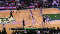 Bojan Bogdanovic Dunks On Giannis Antetokounmpo | Nets vs Bucks | 2016-17 NBA Season