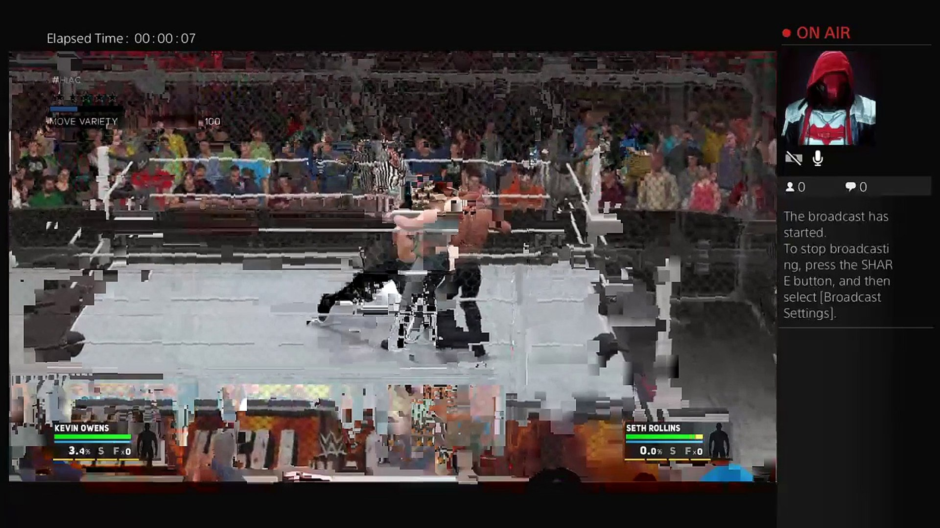Hell in a Cell 10-30-16 Universal Title Kevin Owens Vs Seth Rollins Hell in a Cell