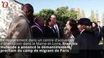 François Hollande veut démanteler le camp de migrants de Paris
