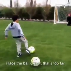 Cutest Video Of Cristiano Ronaldo Playing Soccer With His Son