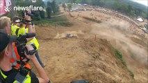 Epic off-road racing crash caught on camera