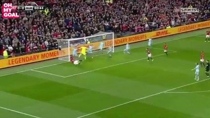 Zlatan Ibrahimovic's Brutal Kick Against Burnley's Goalkeeper