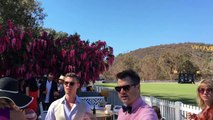 At the Veuve Clicquot Polo games and luncheon in Pacific Palisades
