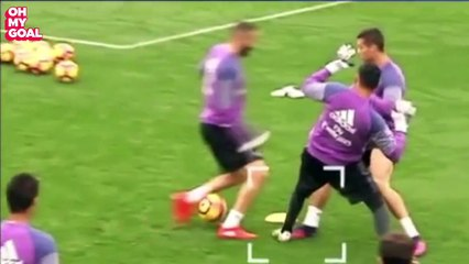 Cristiano Ronaldo Explodes After Being Nutmegged and Tackled