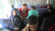 عشرات العائلات النازحة تغادر مخيم ديبكة جنوب الموصل