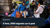 À Paris, 2000 migrants sur le pavé