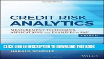 [PDF] Credit Risk Analytics: Measurement Techniques, Applications, and Examples in SAS (Wiley and