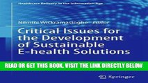 [READ] EBOOK Critical Issues for the Development of Sustainable E-health Solutions (Healthcare