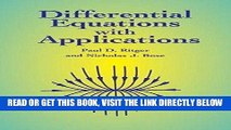 [FREE] EBOOK Differential Equations with Applications [DIFFERENTIAL EQUATIONS W/APPLI]