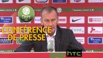Conférence de presse Stade Brestois 29 - RC Lens (1-2) : Jean-Marc FURLAN (BREST) - Alain  CASANOVA (RCL) - 2016/2017