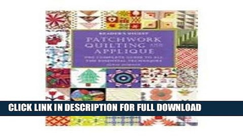 Ebook Patchwork, quilting,   applique (Reader s Digest) Free Download