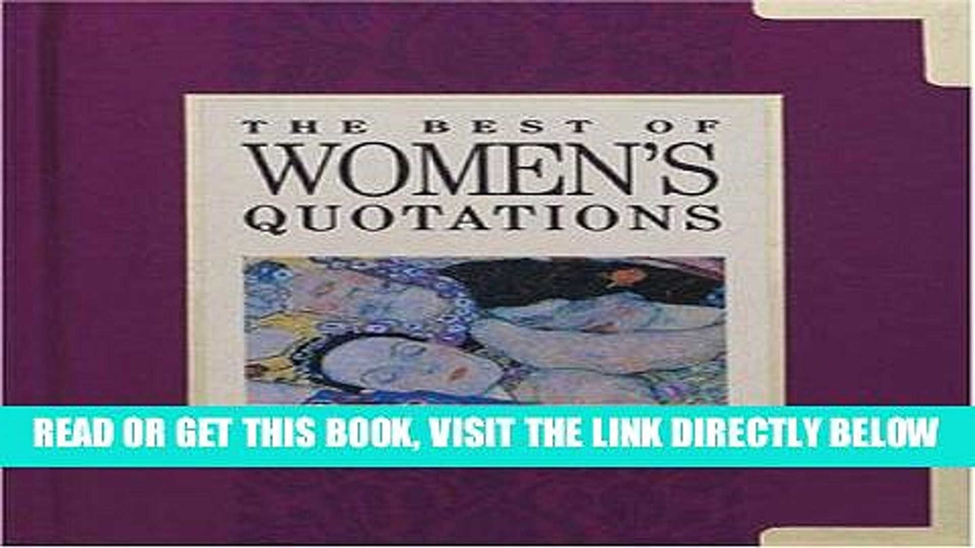[FREE] EBOOK The Best of Women s Quotations (The Best of Quotations Series) BEST COLLECTION