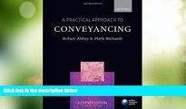 Big Deals  A Practical Approach to Conveyancing (Practical Approach Series)  Best Seller Books