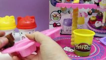 Hello Kitty Dough Pack with Molds and Shapes Play Doh Hello Kitty Figures Peppa Toys Kit Plastilina