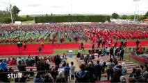7 000 enfants réalisent le plus grand Haka du monde
