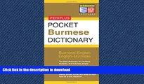 READ THE NEW BOOK Pocket Burmese Dictionary: Burmese-English English-Burmese (Periplus Pocket