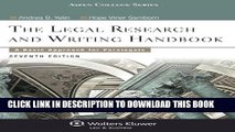 Ebook Legal Research and Writing Handbook: A Basic Approach for Paralegals (Aspen College) Free