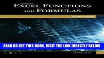 [Free Read] Microsoft Excel Functions and Formulas, Covers Excel 2010, 2nd Edition (Computer