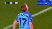 Kevin De Bruyne Super Shot Hits Cross-Barl HD - Manchester City 2-1 Barcelona - 01.11.2016