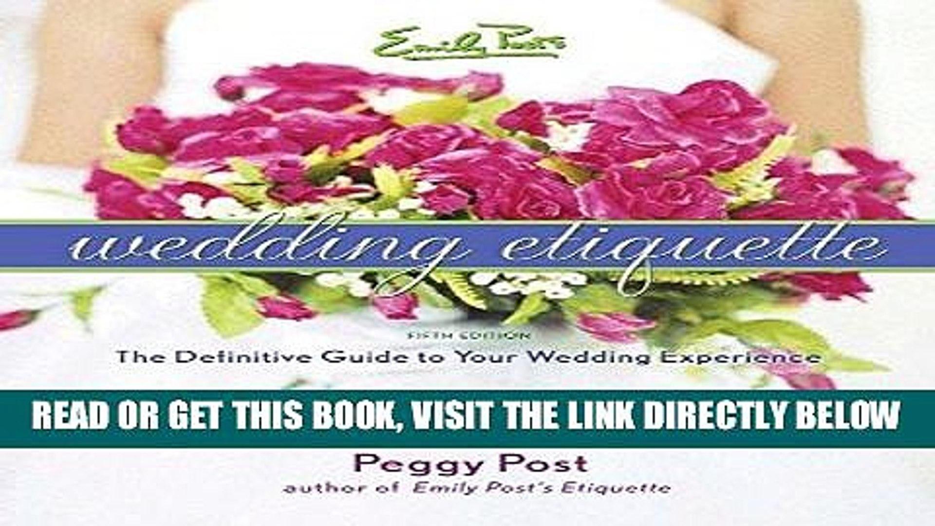 Emily Posts Wedding Etiquette 4e