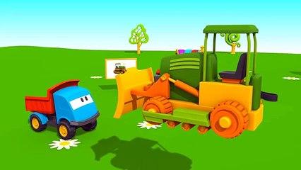 Léo le camion benne curieux - Le bulldozer | Dessins animés en français