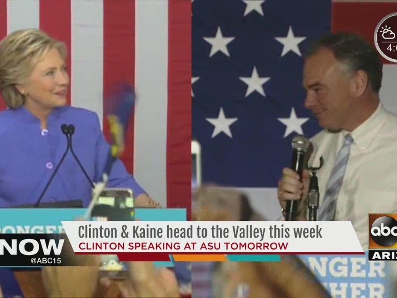 Hillary Clinton, Tim Kaine, Mike Pence visiting Phoenix, Mesa