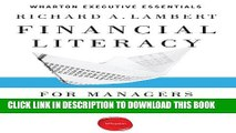 [FREE] EBOOK Financial Literacy for Managers: Finance and Accounting for Better Decision-Making