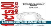 [New] Ebook Mathematics and Statistics for Financial Risk Management  Mathematics, Mathematics